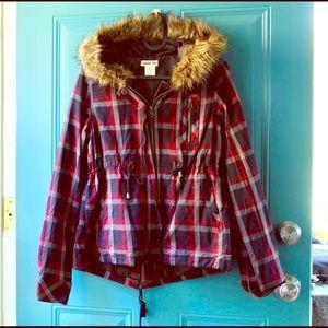 Cozy Plaid Fall Jacket